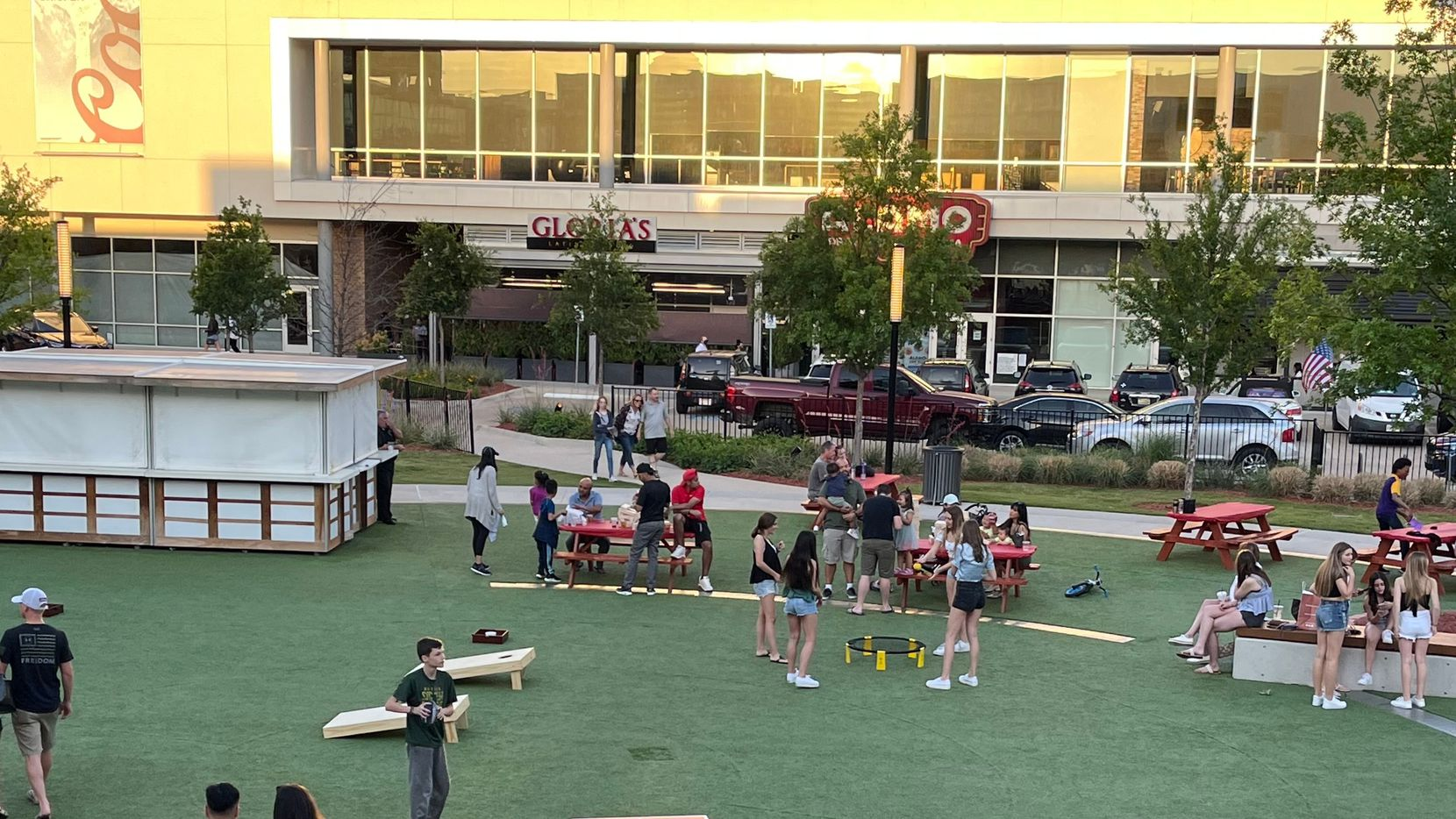 Irving hosts adult recess at Toyota Music Factory every Friday night.
