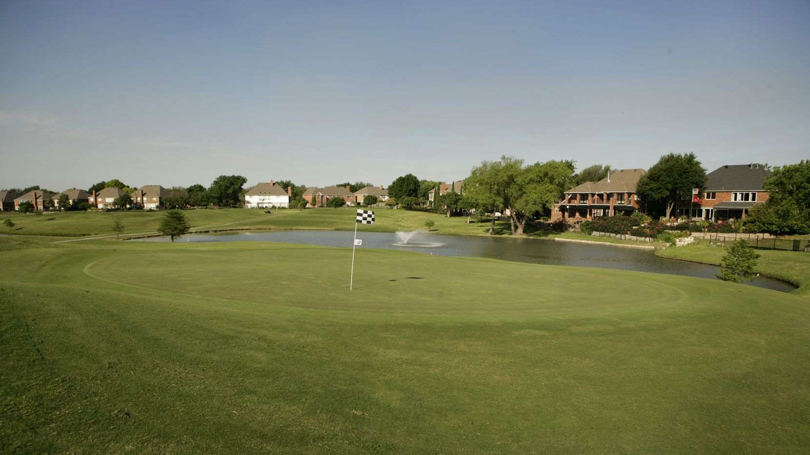 The Number 6 hole, par 3, on Course 1 at Sherrill Park Golf Course, photographed on April 29, 2011.