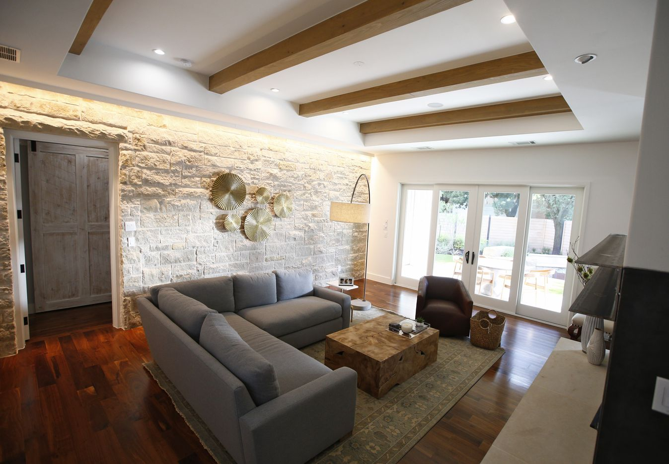 A living room in one of the Centre Living Homes in Dallas.