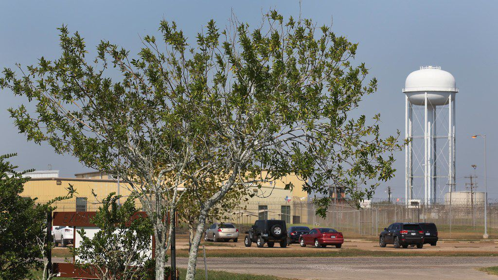 FOR BRANDI SWICEGOOD STORY A look at a part of the prison grounds that flooded during Hurricane Harvey at the Texas Department of Corrections W.F. Ramsey Unit in Rosharon,Texas, photographed on Tuesday, September 12, 2017. (Louis DeLuca/The Dallas Morning News)