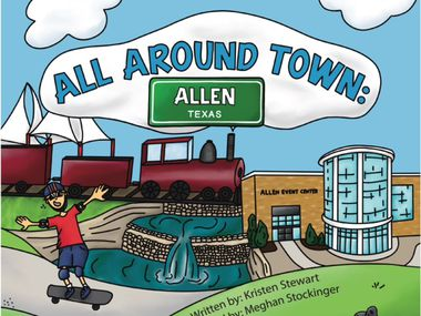"""Kristen Stewart wrote a children's book called """"All Around Town"""" that features the history about Allen and its attractions. Illustrations are by Meghan Stockinger."""
