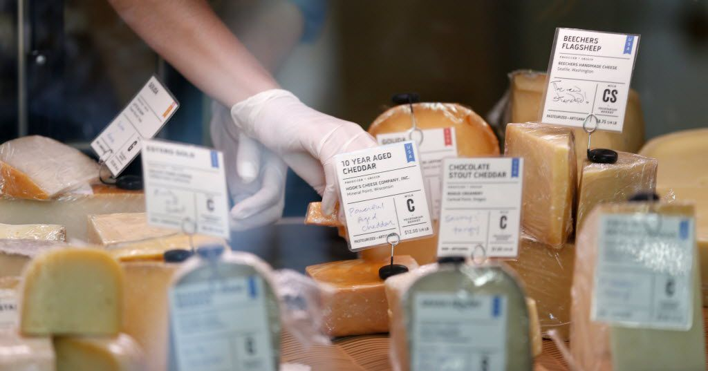 Cheeses for sale at Scardello Artisan Cheese