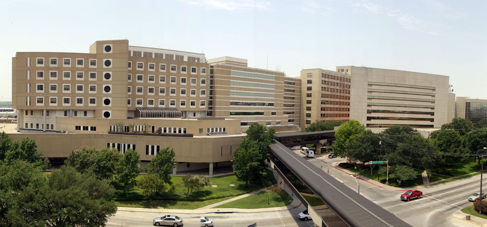 The former Parkland Hospital complex on Harry Hines Boulevard includes more than a dozen buildings.
