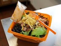The Barbecue Ranch with Steak is one of about 10 salad options at Salad And Go. The first shop outside of Arizona opened in Plano on May 5, 2021. Since then, other drive-throughs have opened in Richardson, Dallas, Far North Dallas and Fort Worth.
