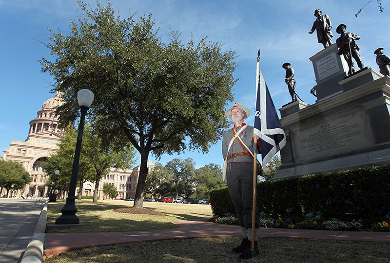 At the Capitol in Austin,  no fewer than 12 monuments, plaques and other nods to the Confederacy remain. A dozen states have considered bills on how governments should remember the Confederacy, with little real progress.