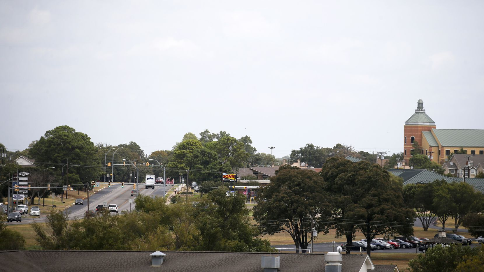 If President Trump's motorcade passes through Keene, it'll likely travel down Old Betsy Road, passing a Sonic, a Family Dollar, a famous duck pond, the entrance of Southwestern Adventist University and the new city hall built last year.