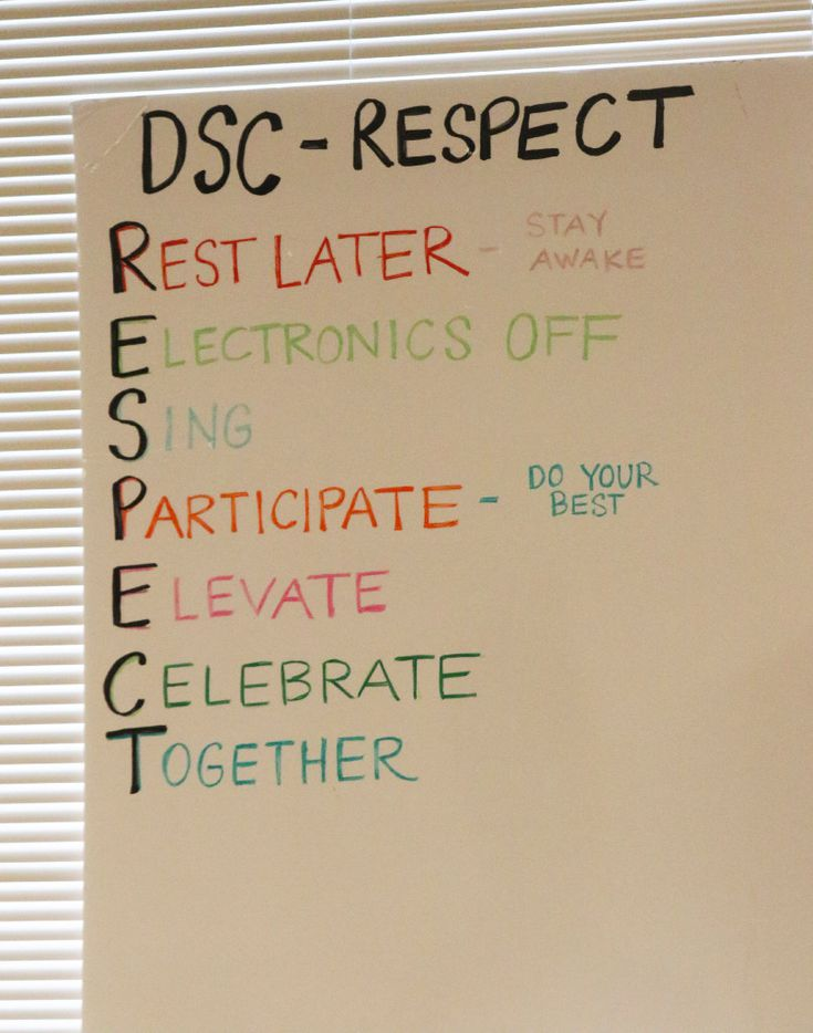 A sign at the Dallas Street Choir's rehearsal room helps keep choir members focused, reminding them of guidelines for the hour-long session.