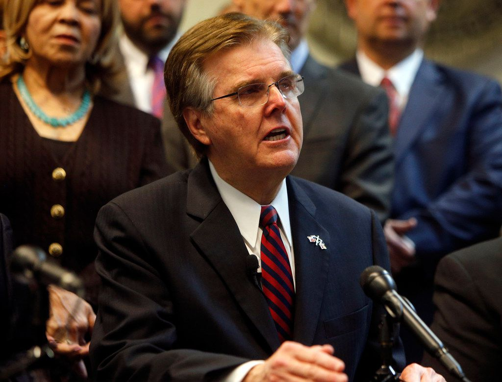 Texas Lt. Gov. Dan Patrick said 32,000 officers would benefit from the $25 million in grant money.