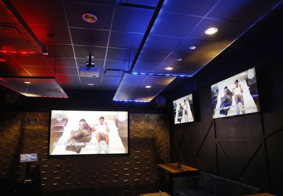 Three karaoke rooms are available at BB.Q Chicken in Richardson.
