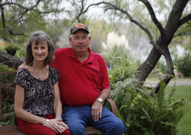 Ed and Suzanne Stegemoller of Ennis will be a stop on a garden tea tour in Ellis County, organized by a new garden club in the area. The couple started their garden three years ago and it includes ponds, waterfalls and water fountains.