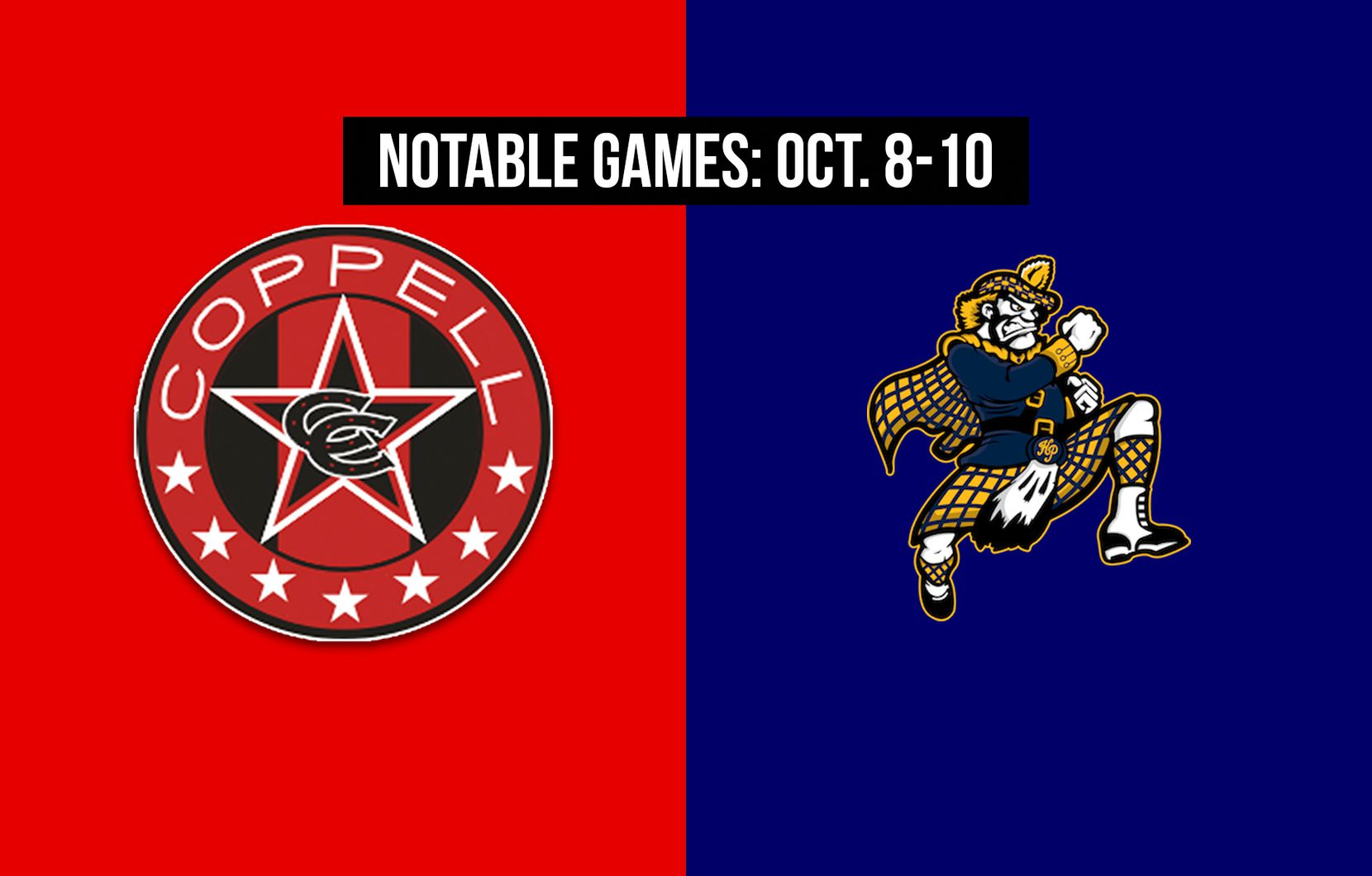 Notable games for the week of Oct. 8-10 of the 2020 season: Coppell vs. Highland Park.