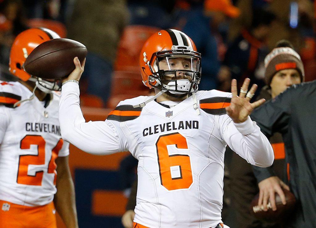 El mariscal de los Browns de Cleveland, Baker Mayfield, es uno de los extrovertidos personajes de la NFL.
