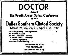 An advertisement from March 20, 1932.