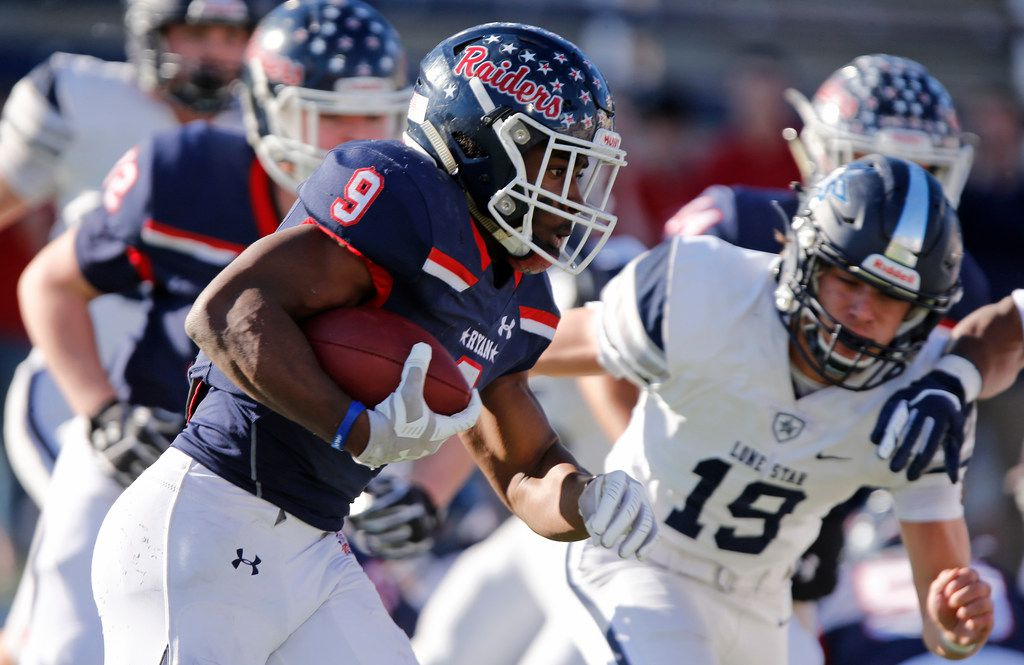 Denton Ryan and Frisco Lone Star will meet in Week 3 in the 2020 season. It will be a rematch of the Class 5A Division I state semifinal that Denton Ryan won 35-7 this past season. (Stewart F. House/Special Contributor)