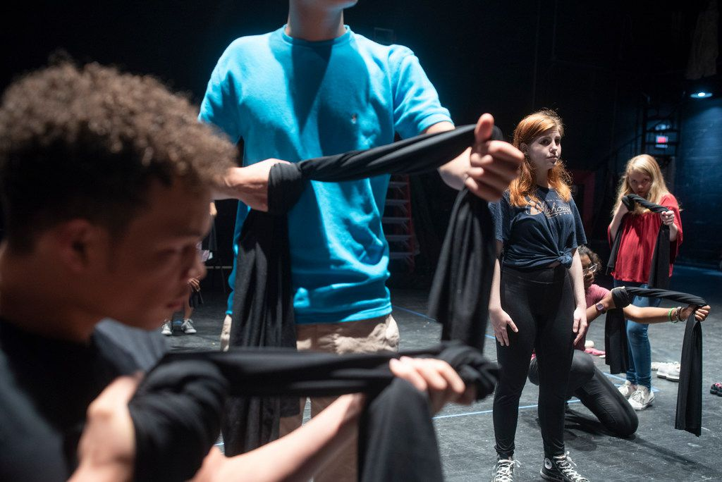 Cara Lawson, a recent graduate of Booker T. Washington High School for the Performing and Visual Art (second from right), is among the teens who will be performing in Cry Havoc's Babel,  a docudrama about gun violence that she and the company helped create.