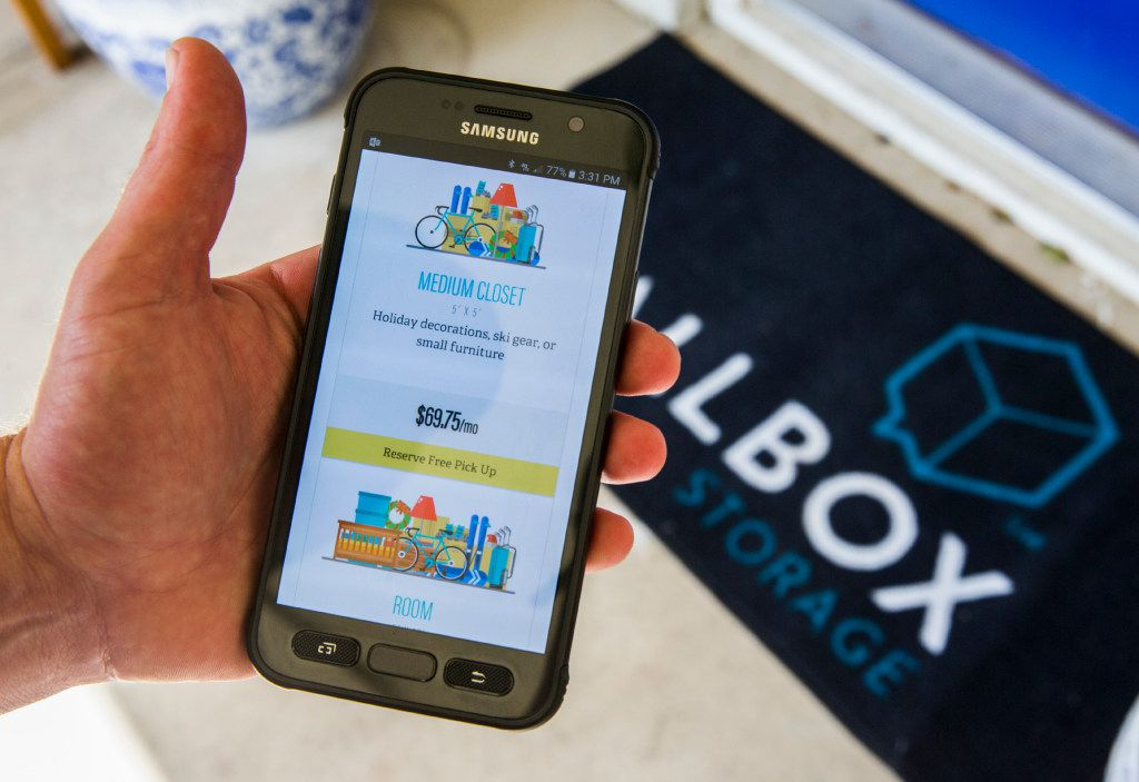 Instead of renting a storage unit, Callbox customers pay for the actual space their items take up.. (Ashley Landis/The Dallas Morning News)
