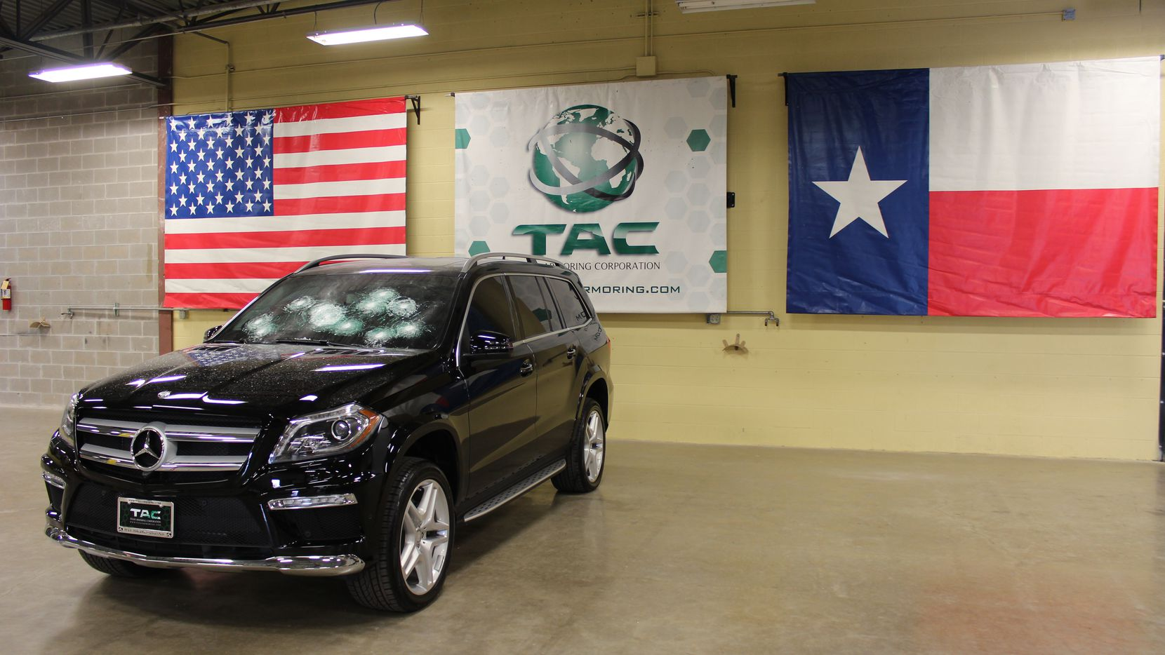 A Texas company that makes armored passenger vehicles posted a video to YouTube in 2014 that showed a Mercedes-Benz SUV repelling rounds fired from an AK-47.