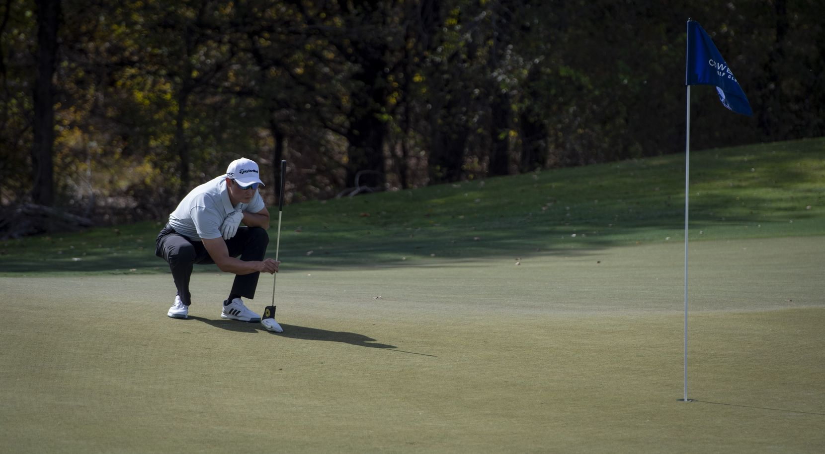 Thomas Hahm of Coppell lined up a putt at Cowboys Golf Club in Grapevine on Nov. 4, 2020.