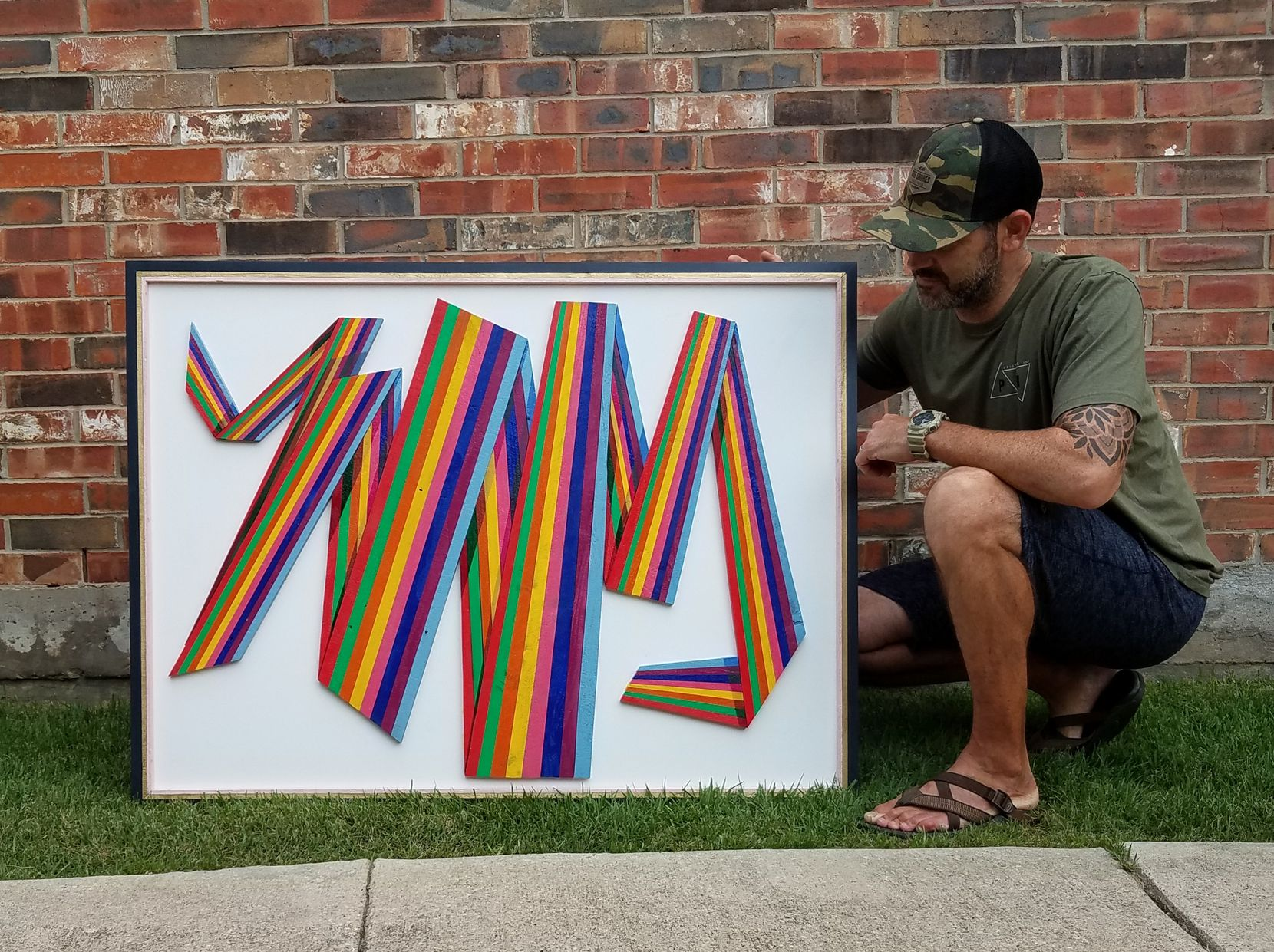 Ryan Ekmark used art as an outlet that helped him on his road to recovery and sobriety. He has since turned his wood art into a business named Recovered Calling.