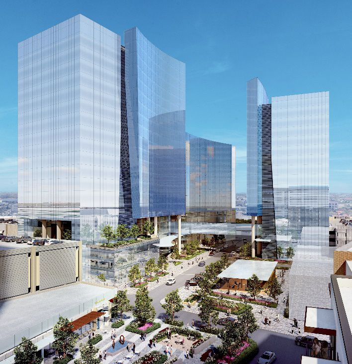 The tallest of the planned CityLine towers would be 18 floors.