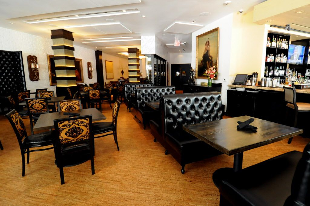 Seating is available in the dining or bar area at Patrizio in Uptown.