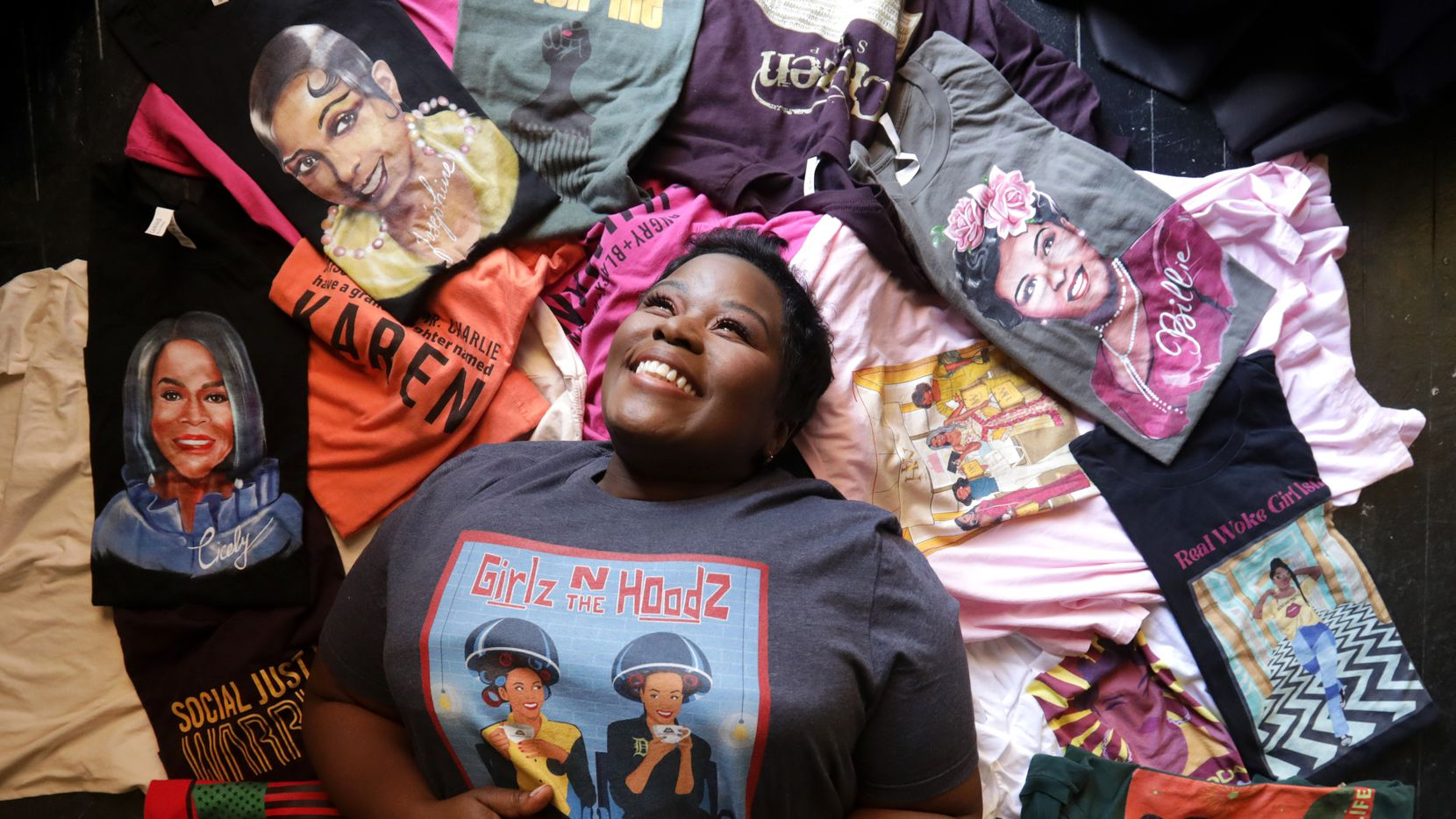 Dallas improv comedian Sydney Plant channeled her passion for honoring Black women's experiences into a new line of T-shirts. Her business is called Black Women Unlimited.