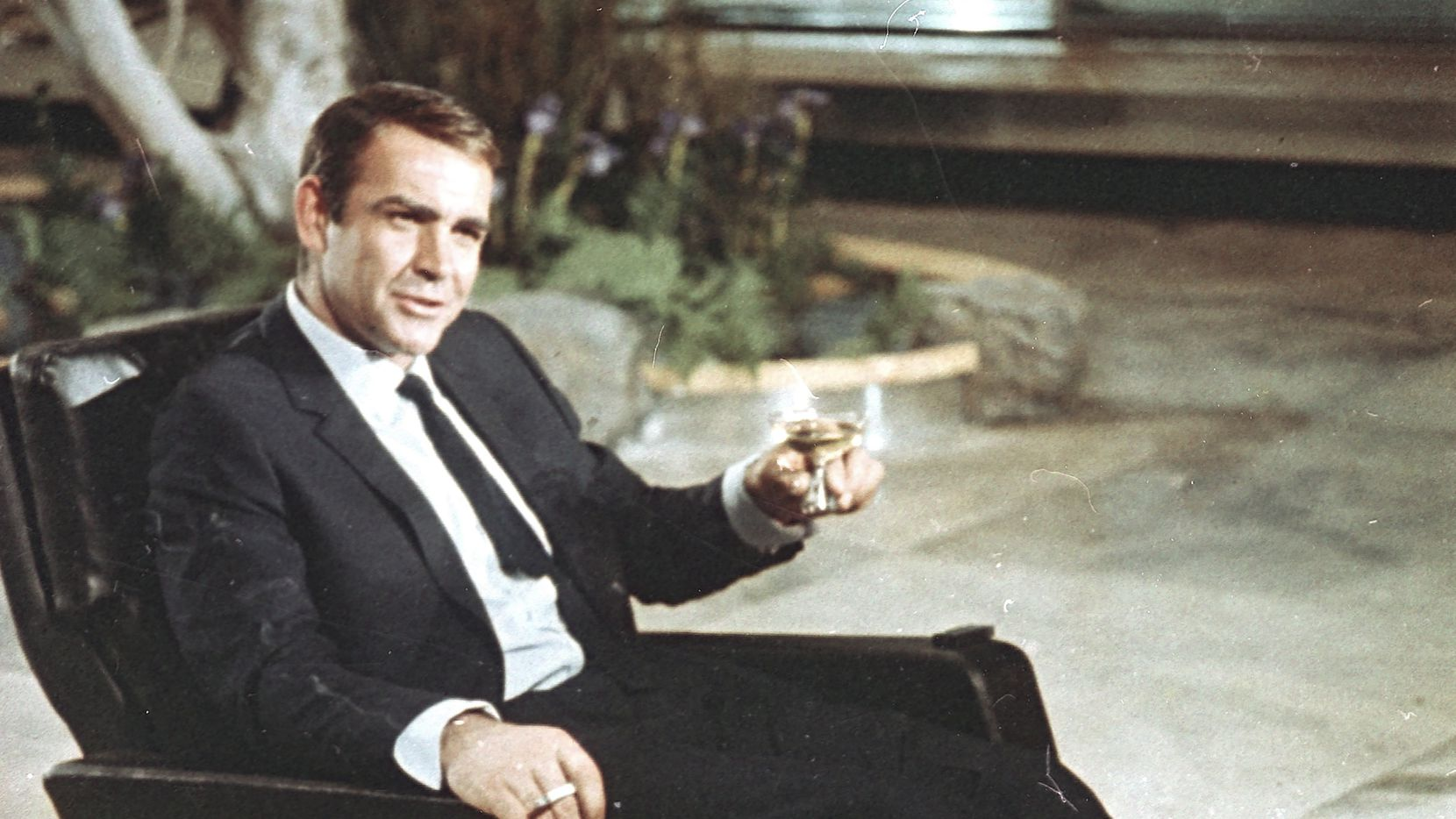 """Actor Sean Connery in 1966 is shown during filming the James Bond movie """"You Only Live Twice,"""" on location in Tokyo, Japan."""