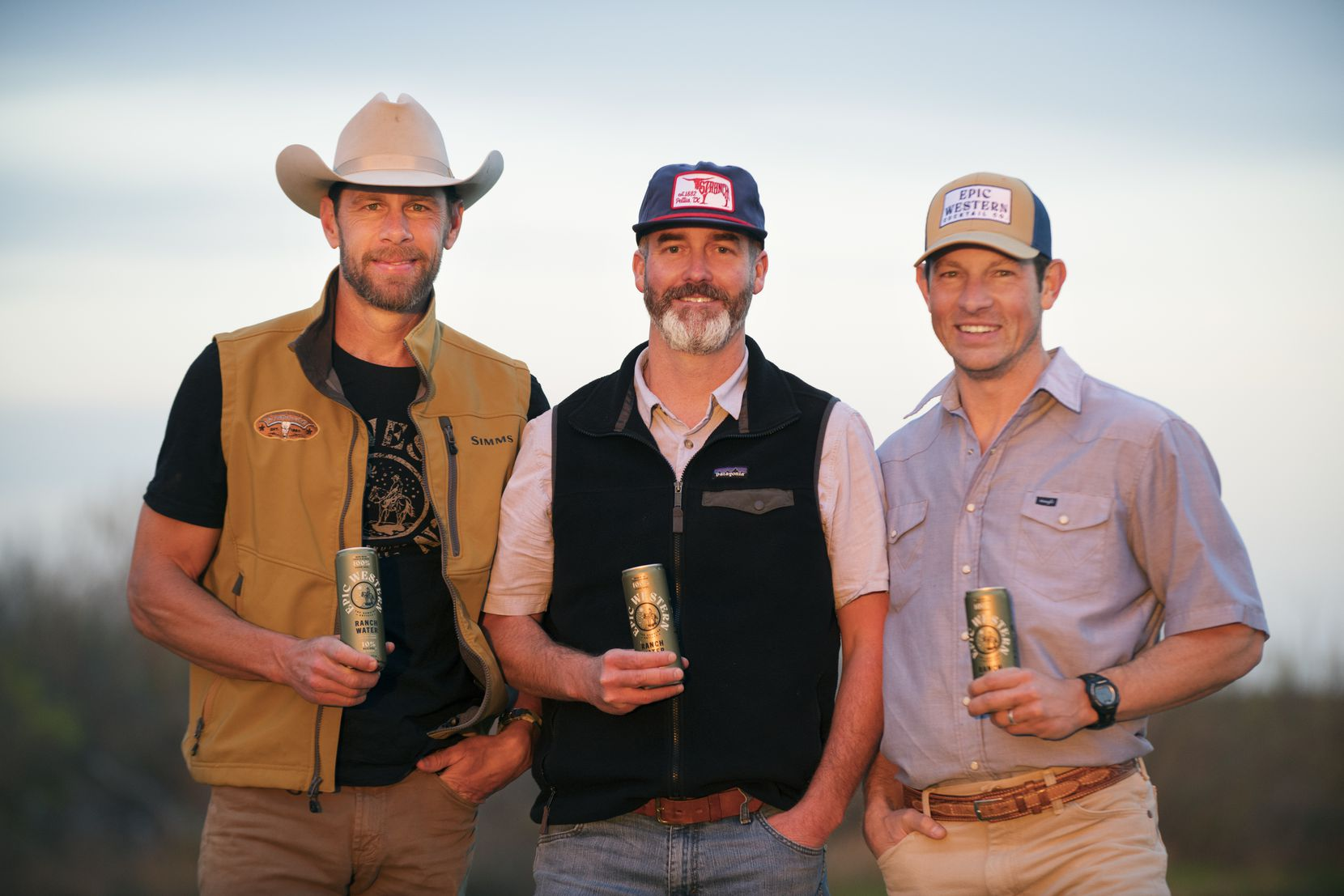 Adam Love, Royce Itschner, and Dub Sutherland launched Epic Western ranch water.