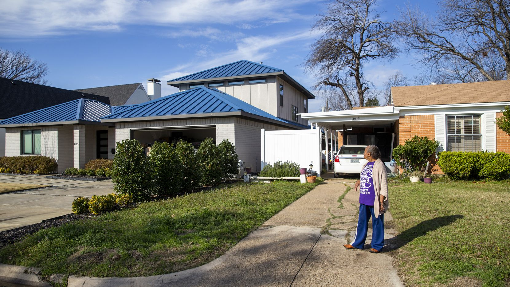 """Vera Reece has lived in Elm Thicket-Northpark since 1961, and has been in her home since 1964. She is not troubled by the big builds surrounding her home, because, jokes the 83-year-old, """"I only have a few more months to live."""" A bill before the Texas House would protect residents like Reece from spiking property taxes."""