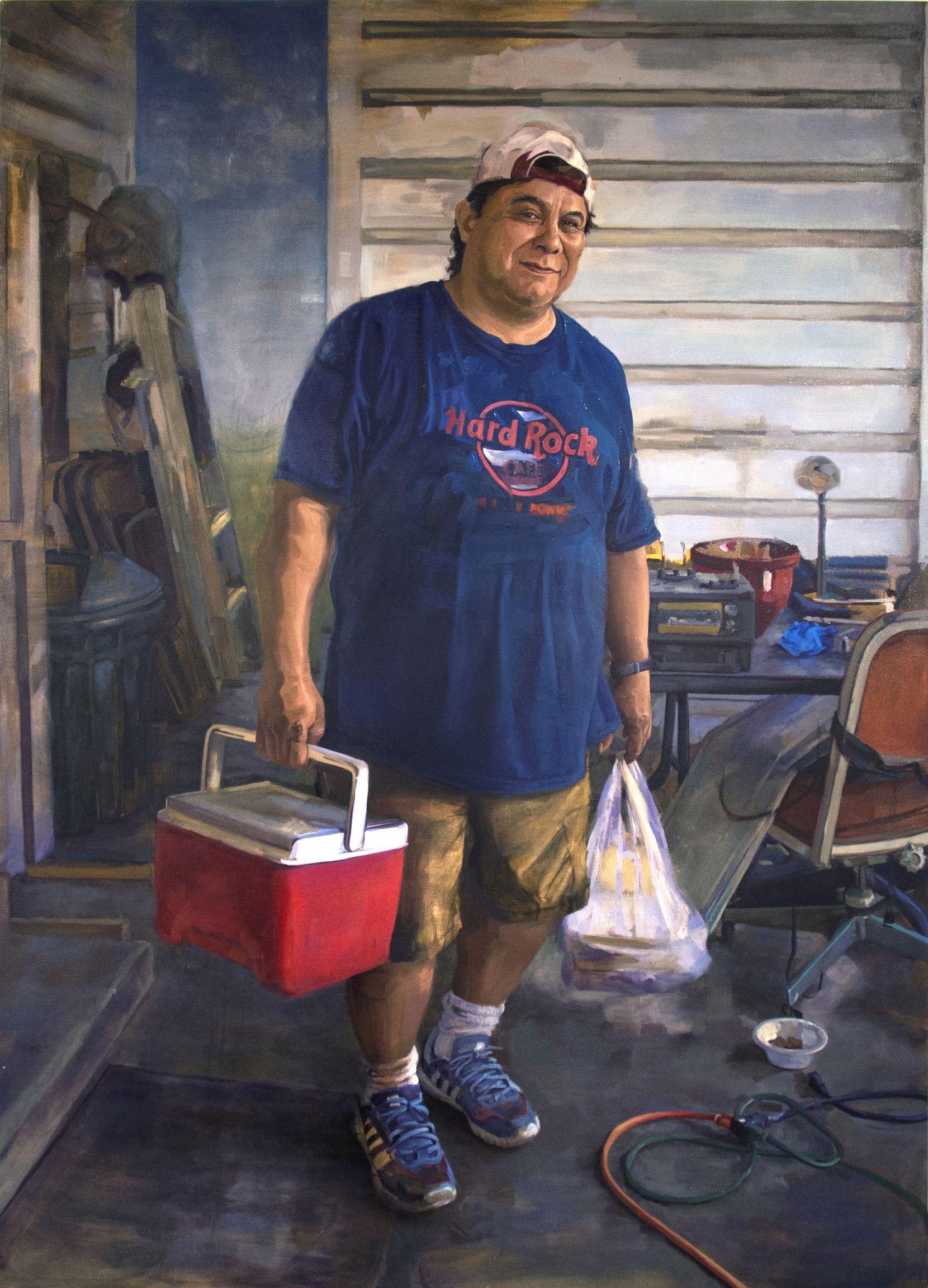 "Arely Morales, ""Mi apa (My dad),"" 2018; oil on canvas"