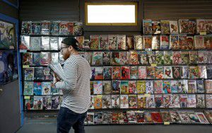 Customer Justin Gorbey shops at Red Pegasus Games and Comics on Wednesday in Dallas. (Jae S. Lee/The Dallas Morning News)