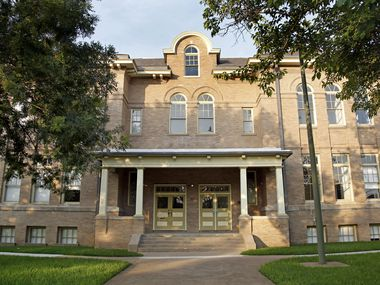 The historic Davy Crockett School on Carroll Avenue in East Dallas has been renovated and converted into apartments.