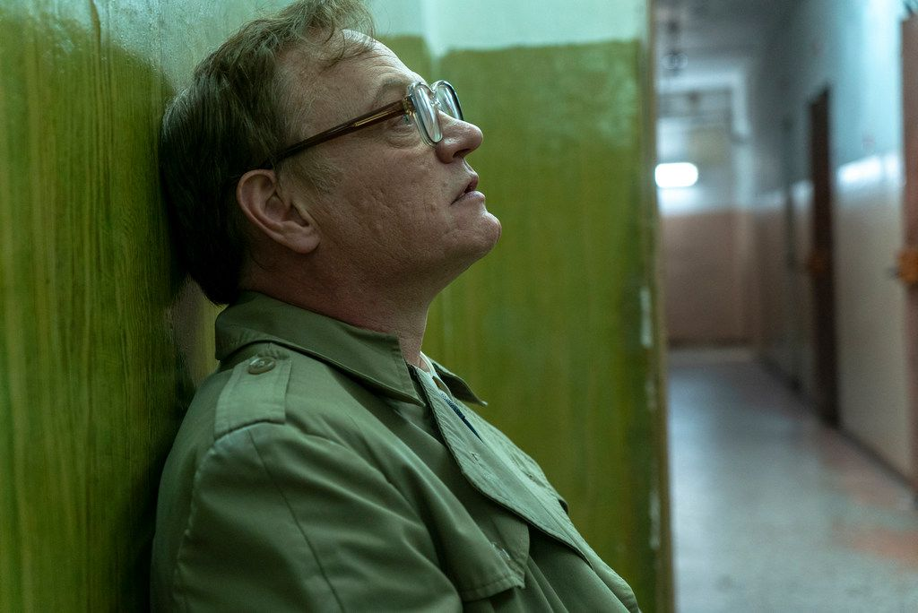 This image released by HBO shows Jared Harris in a scene from Chernobyl. On Tuesday, July 16, 2019, Harris was nominated for an Emmy Award for outstanding lead actor in a limited series or movie. (HBO via AP)