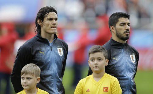 Edinson Cavani y Luis Suárez fueron convocados por Uruguay para amistoso contra México en Houston. (AP Photo/Natacha Pisarenko)