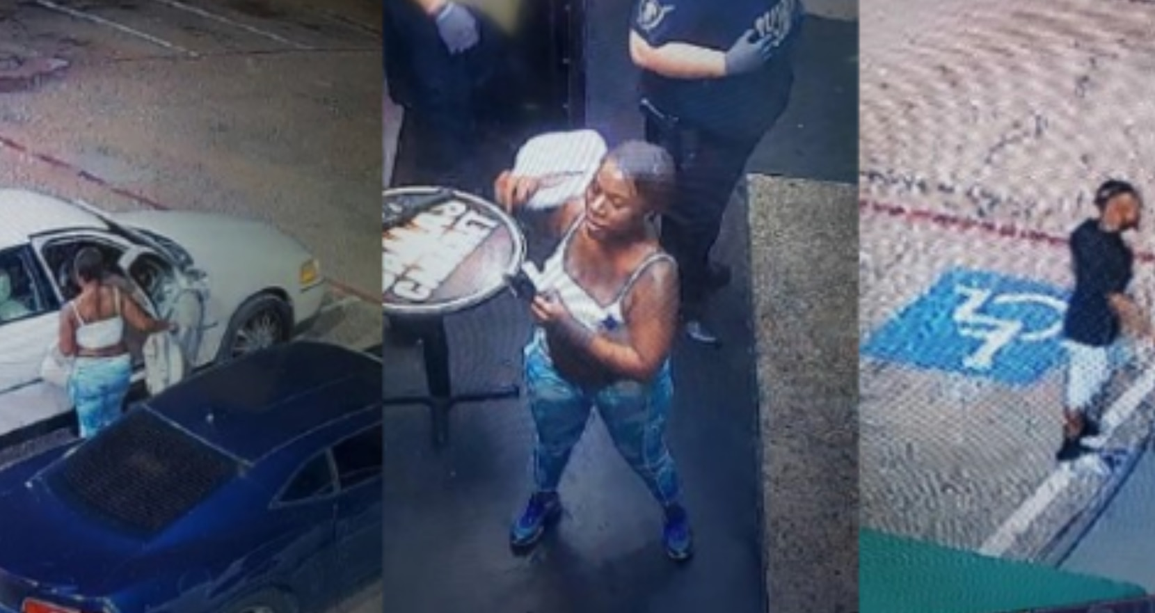 Dallas police are trying to find two people who are suspected of shooting a man Thursday in northwest Dallas. Investigators have released photos of the two suspects, who they said shot a man repeatedly on Walnut Ridge Street near Interstate 35E.