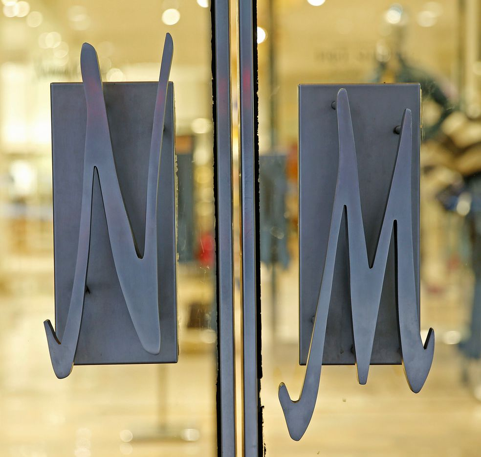 A sign of Neiman Marcus on the store doors in Dallas, Monday, Feb. 5, 2018. (Jae S. Lee/The Dallas Morning News)