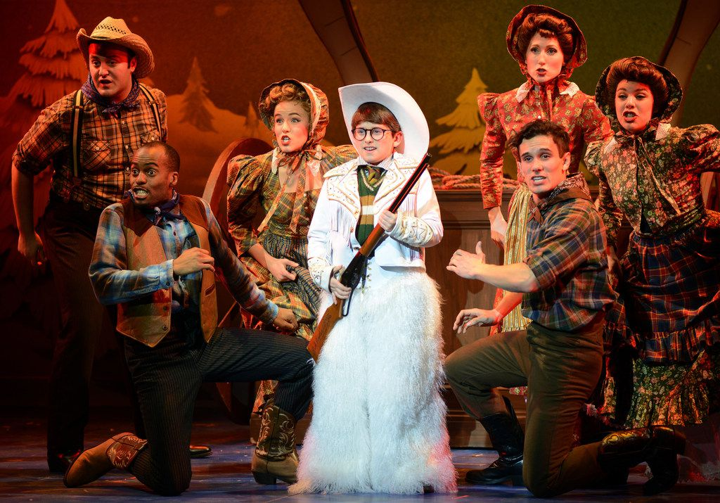Colton  Maurer  as  Ralphie  and  the  company  of A  Christmas  Story the  Musical, presented by AT&T Performing Arts Center at Winspear Opera House Dec. 12-16, 2018.