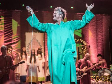 In this 2016 file photo, Tim DeLaughter, lead singer of the Polyphonic Spree, performs at the Majestic Theatre.