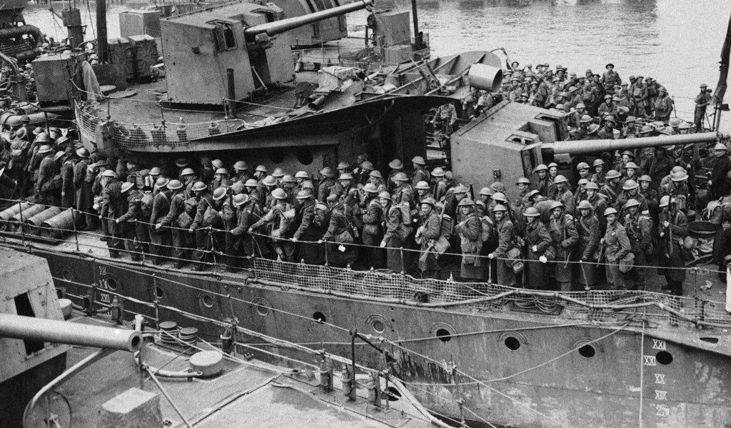 British troops return home after evacuation from Europe in June 1940.
