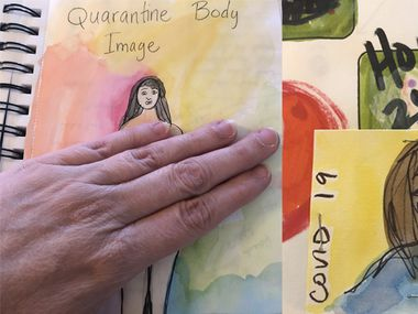 Andrea Davis, founder of Dallas Art Therapy, a non- profit organization based in Richardson, shared her personal sketchbook of illustrations based on  observations of the stress and grief people have experienced during the COVID-19 pandemic.