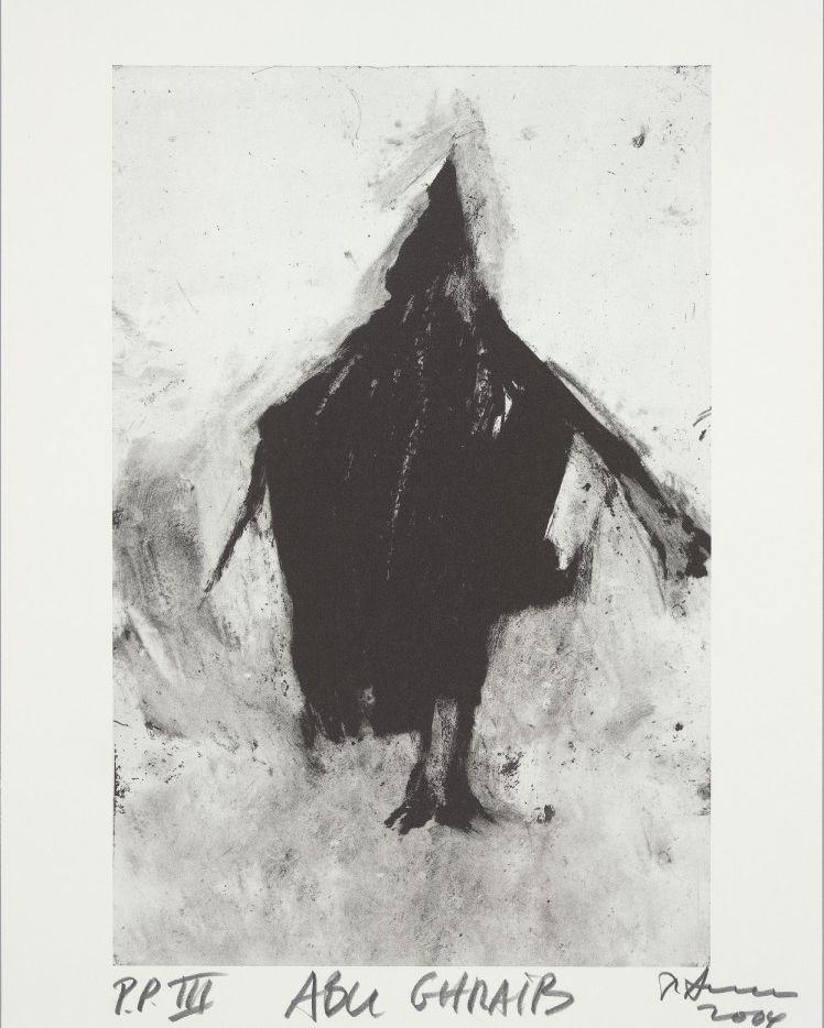 Abu Ghraib, 2004 edition lithograph. Both by Richard Serra.