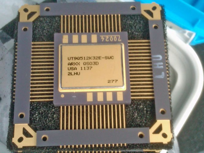 A radiation-hardened computer chip