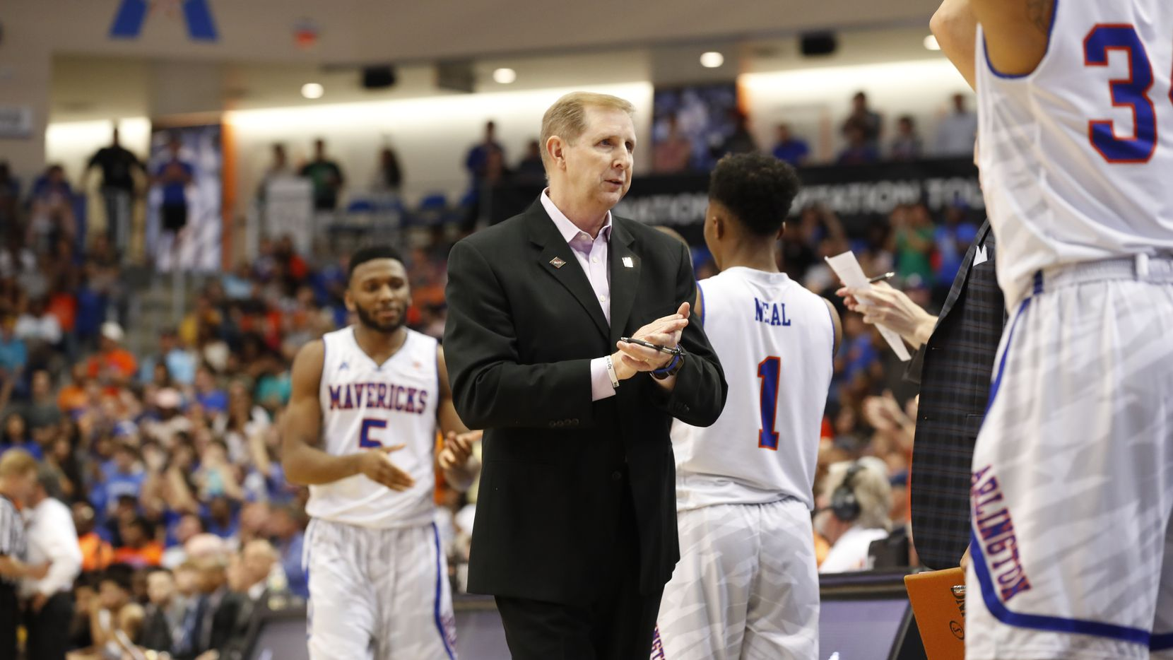 during UTA vs Akron in the second round of the National Invitation Tournament at College Park Center on Monday, March 20, 2017. (Photo by Gregg Ellman)