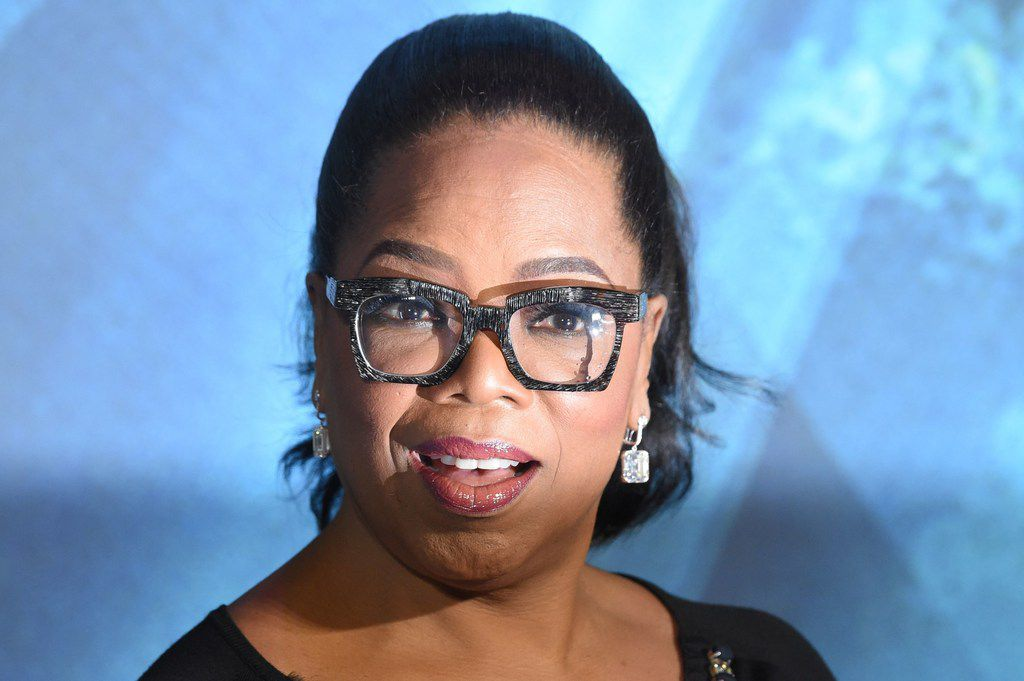 US chat show host Oprah Winfrey poses during the European premiere of A Wrinkle in Time in London on March 13, 2018. / AFP PHOTO / Anthony HARVEYANTHONY HARVEY/AFP/Getty Images