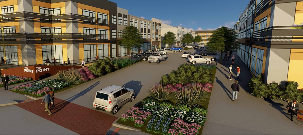 Trammell Crow Residential will build more than 300 apartments at The Point.