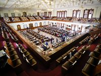 The House Chamber at the Texas Capitol is pictured during the 87th Texas legislature on Friday, May 7, 2021, in Austin. (Smiley N. Pool/The Dallas Morning News)