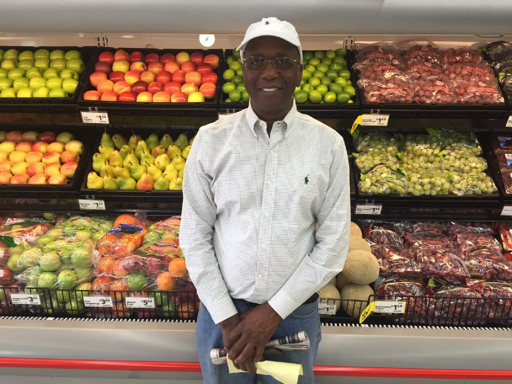 Joseph Kemp stands in front of produce at his new Save-A-Lot store at 3450 Simpson Stuart Road when it opened in 2016. The store received $2.8 million in subsidies from the city of Dallas. Kemp is now in negotiations to sell his store, now called Save U More, to the city of Dallas.