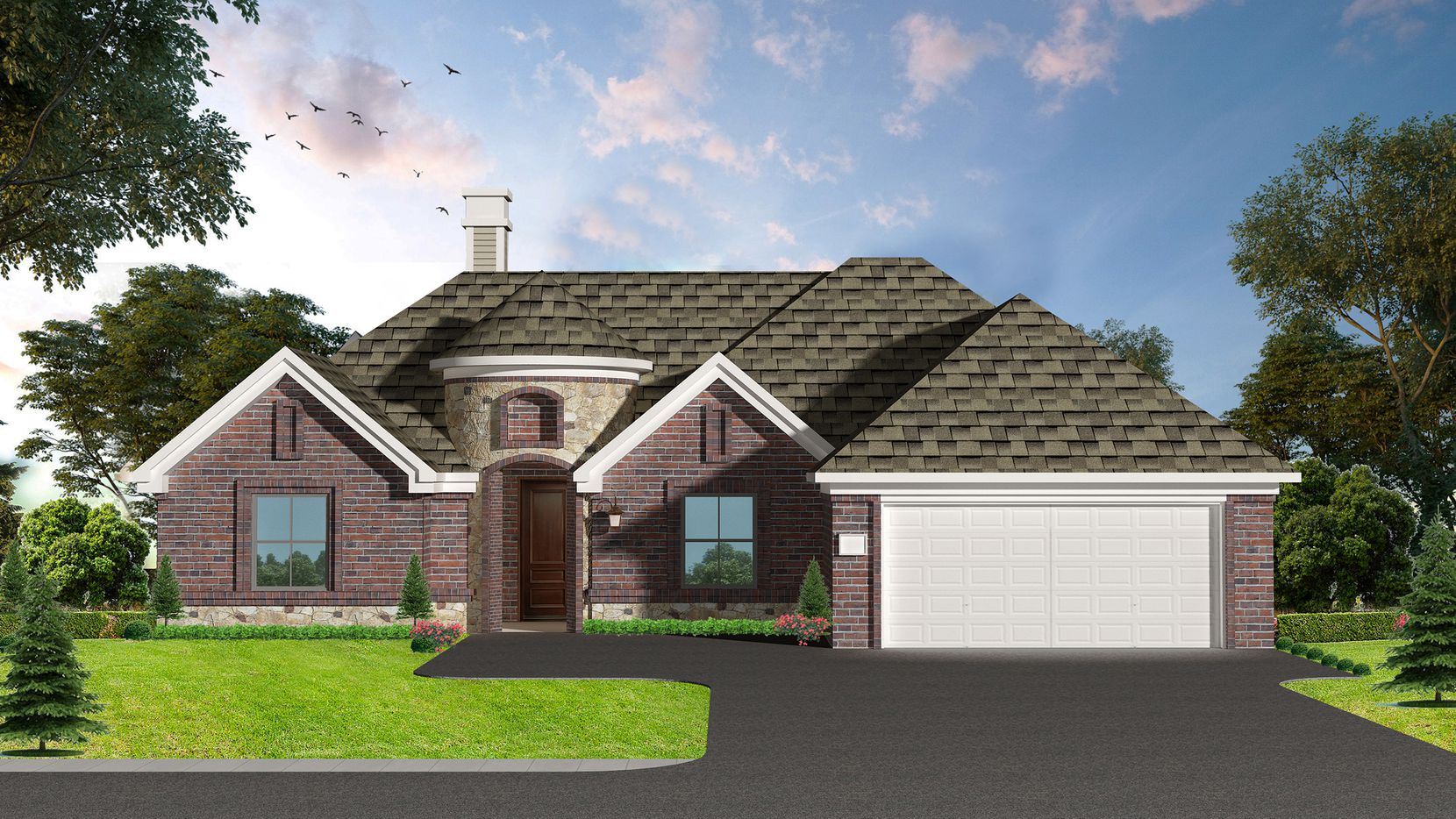 Prices range from the $250s to the $320s for residences by VeraLux Homes in Rosewood Estates in Azle.