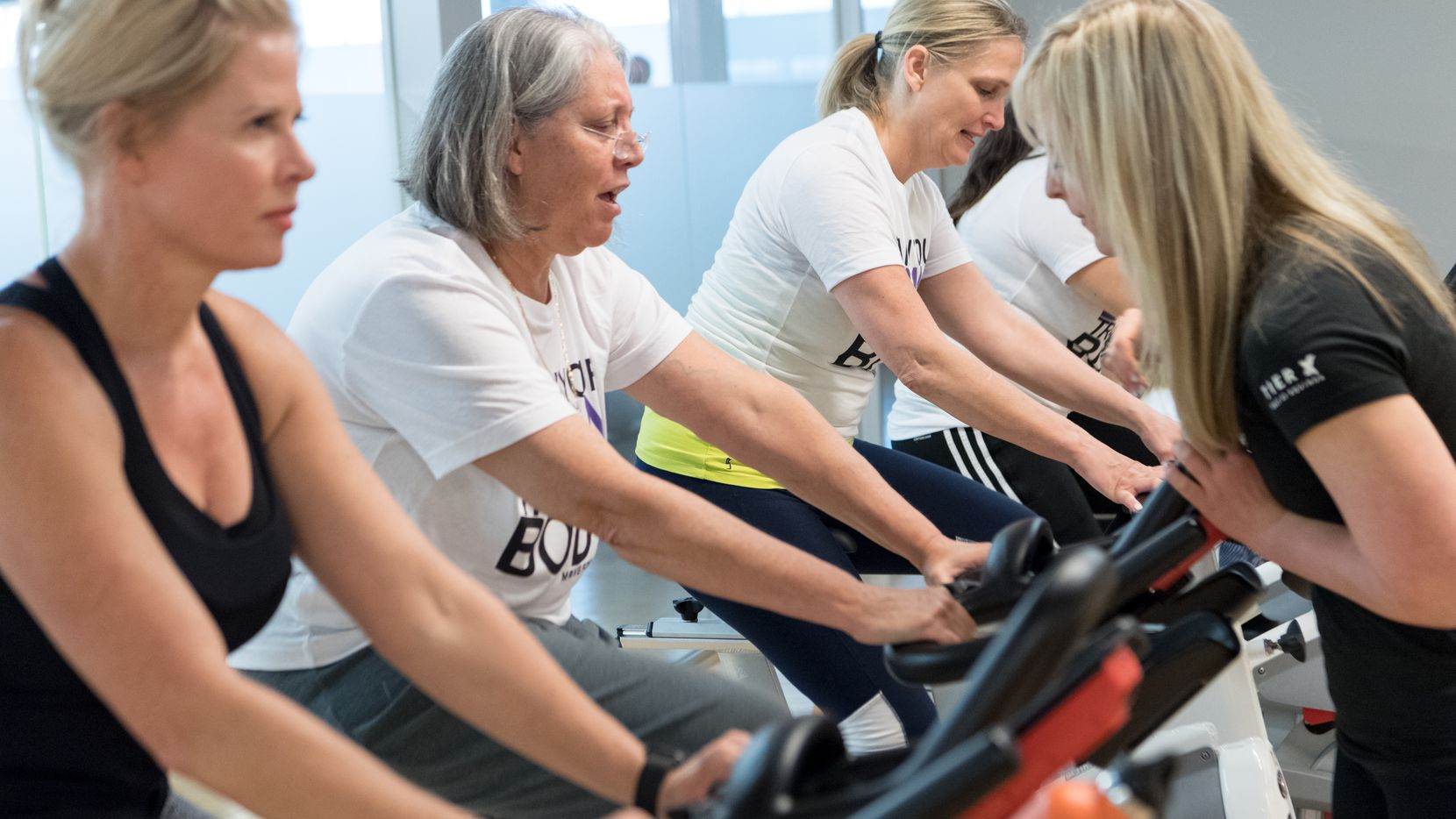 Participants attended the Move for Minds event at Equinox in Dallas on June 4. The event, which visited eight cities in one day, embraces Alzheimer's prevention through brain-healthy nutrition, meditation, education and fitness.