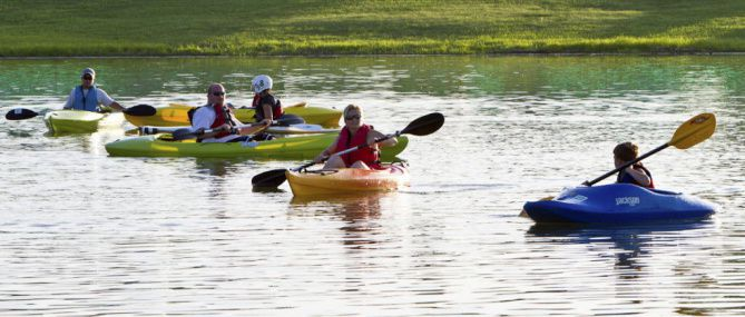 Get away without driving too far at the 52-acre Vineyards Campground & Cabins on Grapevine Lake, where you can rent kayaks, paddleboats and bicycles and find other activities.